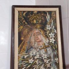 Arte: CUADRO RELIGIOSO VIRGEN DOLOROSA ESTA FIRMADO FAUSTO ANTONIO MOYA POR FAVOR LEER DESCRIPCIÓN. Lote 215464593