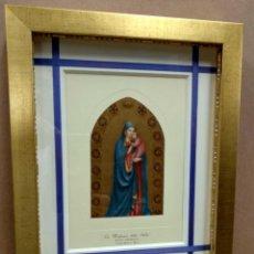 Arte: MADONNA DELLA STELLA, FRA ANGELICO, MUSEO FLORENCIA, PLANCHA 1940 MONTAJE CUADRO. Lote 215472006