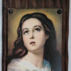 Arte: ANTIGUA LITOGRAFÍA VIRGEN MARIA.. Lote 215570128
