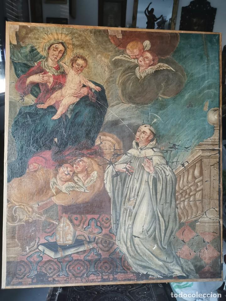 ESPECTACULAR ÓLEO SOBRE LIENZO, SIGLO XVII-XVIII. SAN BERNARDO. (Arte - Arte Religioso - Pintura Religiosa - Oleo)