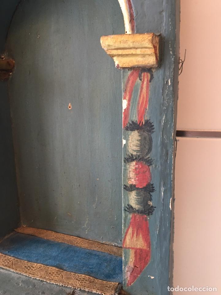 Arte: ANTIGUA HORNACINA DE MADERA PARA TALLA DE SANTO ANTIGUO O VIRGEN ANTIGUA - SIGLO XVIII - Foto 6 - 215980822