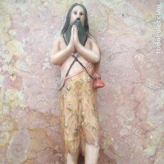 Arte: ANTIGUA IMAGEN DE SAN ONOFRE . RARA PIEZA DIFICIL DE ENCOTRAR 18,4 CM - SANTO IDEAL CAPILLA. Lote 216440085