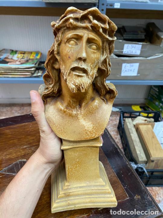 BUSTO DE RESINA SANTO CRISTO DE LIMPIAS - 31X12 CM - RELIGIOSO (Arte - Arte Religioso - Escultura)