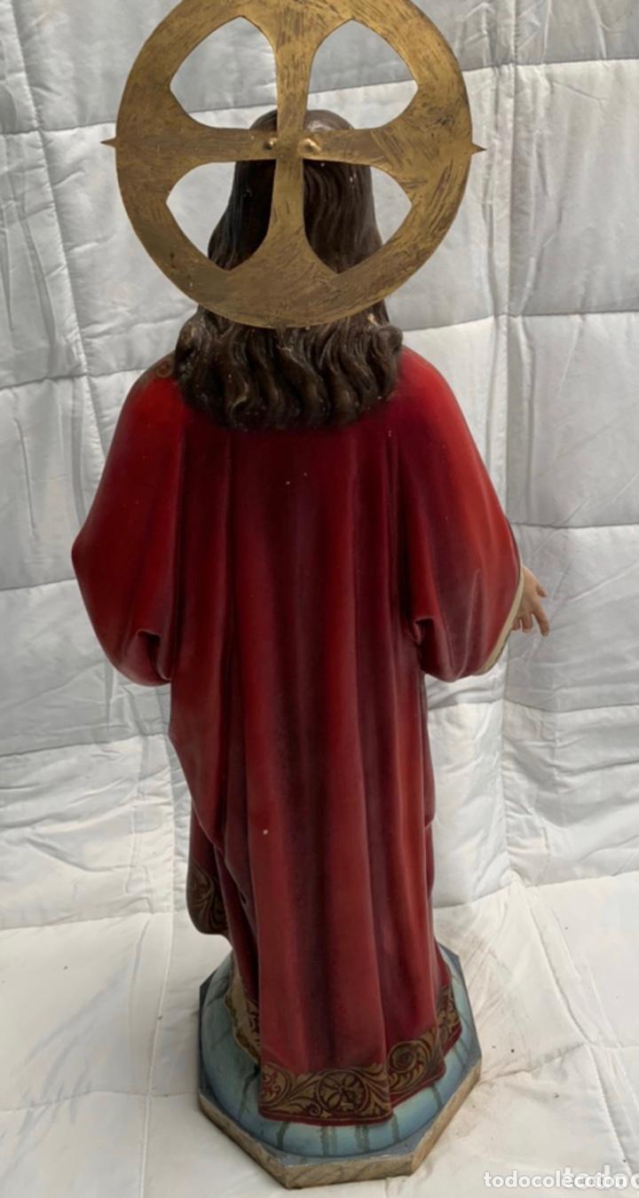 Arte: Antigua figura sagrado corazón Olot siglo XIX - Foto 2 - 216671953
