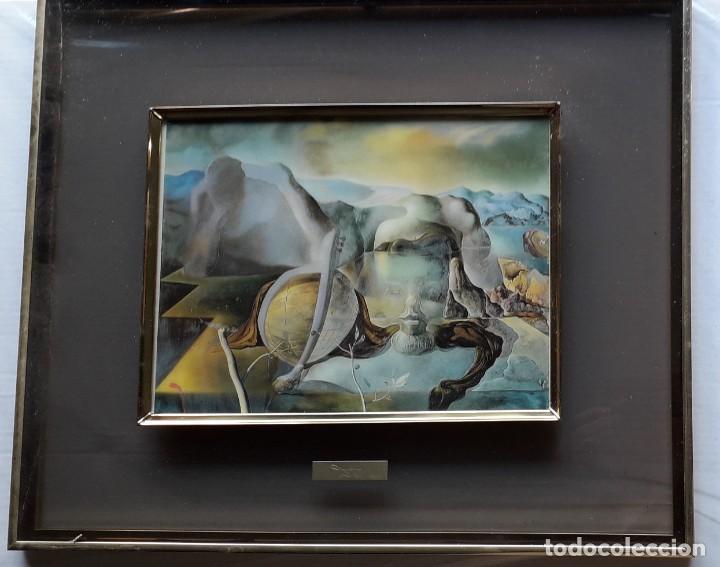 LITOGRAFIA DALI CON CRISTAL Y CON MARCO (Arte - Arte Religioso - Litografías)