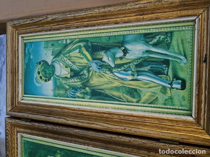 Arte: RETABLO ANTIGUO TRÍPTICO RELIGIOSO ADORACIÓN DE LOS REYES MAGOS 39 CM ALTURA 75 LARGO - Foto 3 - 216696546