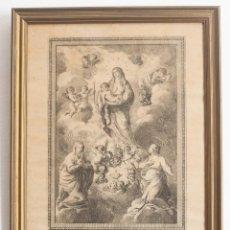 Arte: ANTIGUO GRABADO. SANTAS JULIANA Y SEMPRONIA, PATRONAS DE MATARÓ. FECH 1787. PEDRO PASCUAL MOLES. Lote 217006821