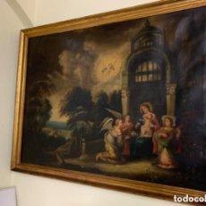 Arte: VIRGEN CON NIÑO Y LOS ANGELES - S.XIX. Lote 217081655