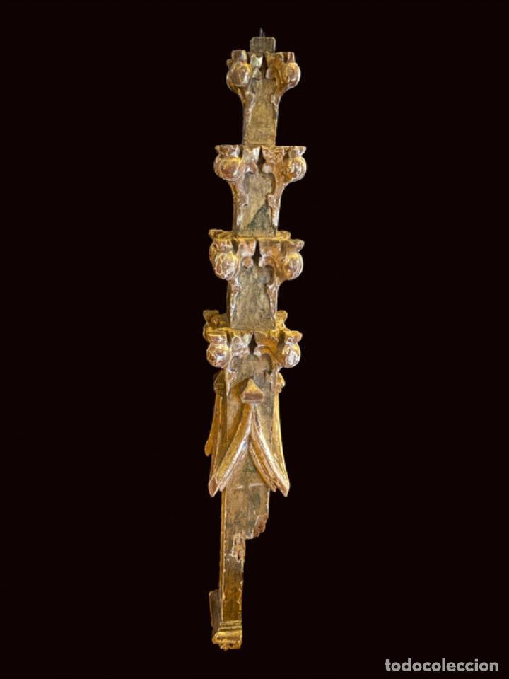 Arte: Precioso pináculo , remate de retablo, con policromía, dorado al oro fino. - Foto 2 - 217089551