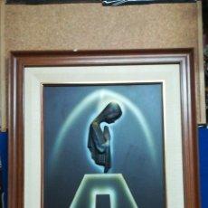 Art: CURIOSO CUADRO DE LA VIRGEN MARIA EN RELIEVE, CON FIRMA DE AUTOR, 1982, ENMARCADO EN MADERA.. Lote 217112457