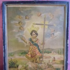 Art: EL NIÑO JESUS DE BELEN, VENERADO EN LA HUERTA DE LA VILLA DE MULA. S.XIX.. Lote 217162991