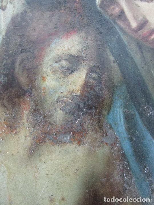 Arte: Pintura Religiosa - Óleo sobre Cobre - Descendimiento de Cristo - Escuela Española - S. XVII-XVIII - Foto 5 - 217239291