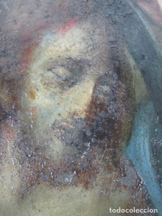 Arte: Pintura Religiosa - Óleo sobre Cobre - Descendimiento de Cristo - Escuela Española - S. XVII-XVIII - Foto 6 - 217239291