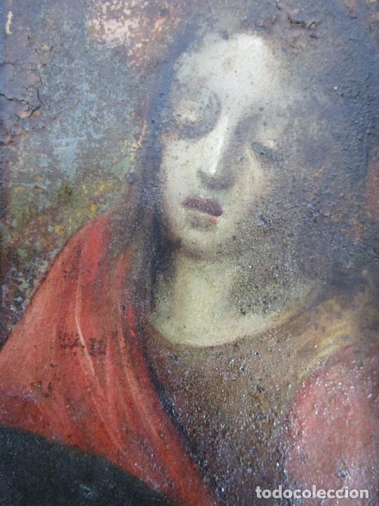 Arte: Pintura Religiosa - Óleo sobre Cobre - Descendimiento de Cristo - Escuela Española - S. XVII-XVIII - Foto 11 - 217239291