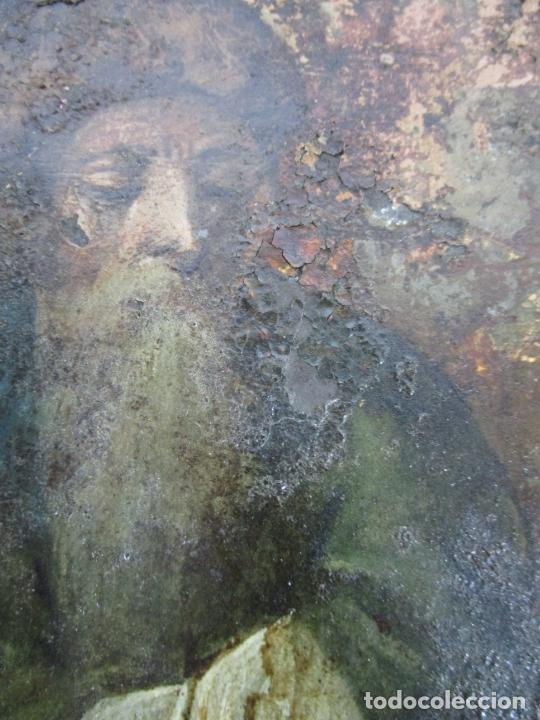 Arte: Pintura Religiosa - Óleo sobre Cobre - Descendimiento de Cristo - Escuela Española - S. XVII-XVIII - Foto 12 - 217239291