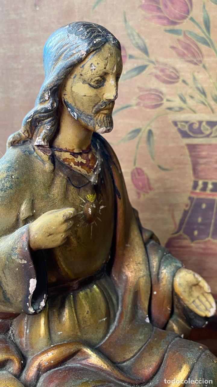 Arte: ESCULTURA RELIGIOSA IMAGEN CRISTO SENTADO - Foto 3 - 217254085