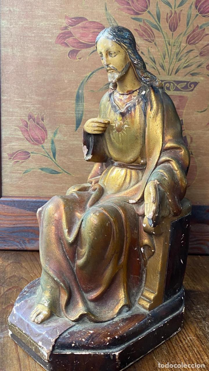 Arte: ESCULTURA RELIGIOSA IMAGEN CRISTO SENTADO - Foto 7 - 217254085