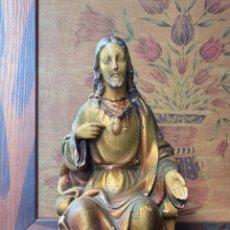 Arte: ESCULTURA RELIGIOSA IMAGEN CRISTO SENTADO. Lote 217254085