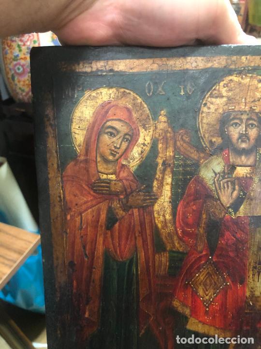 Arte: ESPECTACULAR OLEO SOBRE TABLA SIGLO XVIII - ESCENA RELIGIOSA - MEDIDA 36X26 CM - Foto 2 - 217554838