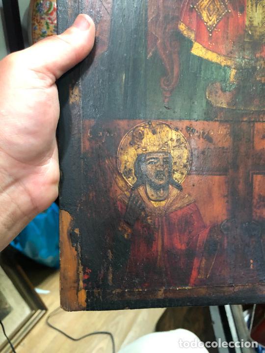 Arte: ESPECTACULAR OLEO SOBRE TABLA SIGLO XVIII - ESCENA RELIGIOSA - MEDIDA 36X26 CM - Foto 3 - 217554838