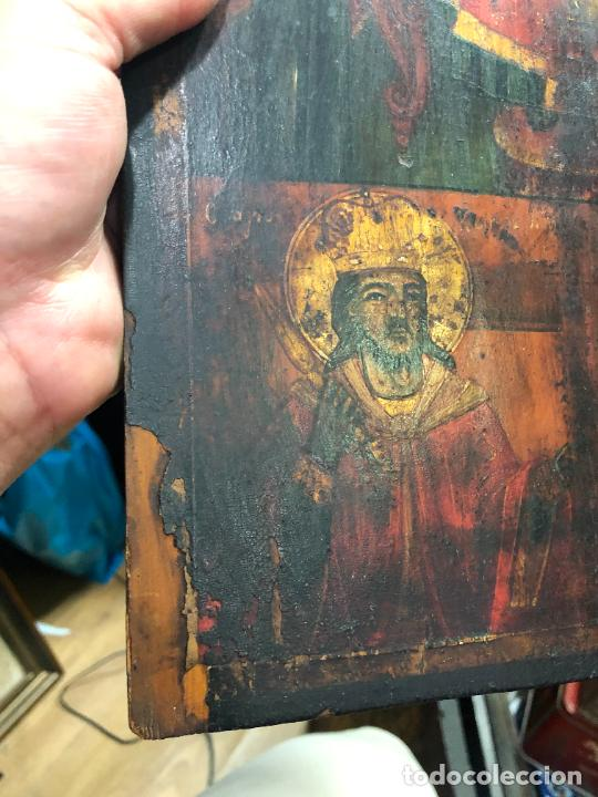 Arte: ESPECTACULAR OLEO SOBRE TABLA SIGLO XVIII - ESCENA RELIGIOSA - MEDIDA 36X26 CM - Foto 5 - 217554838