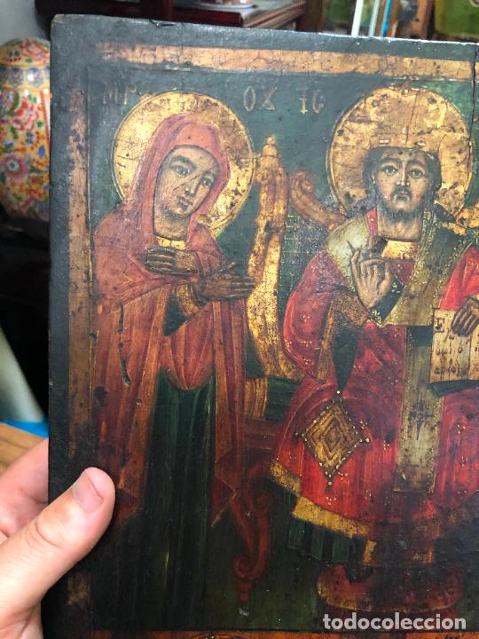 Arte: ESPECTACULAR OLEO SOBRE TABLA SIGLO XVIII - ESCENA RELIGIOSA - MEDIDA 36X26 CM - Foto 6 - 217554838