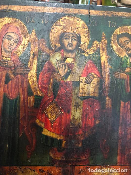 Arte: ESPECTACULAR OLEO SOBRE TABLA SIGLO XVIII - ESCENA RELIGIOSA - MEDIDA 36X26 CM - Foto 7 - 217554838
