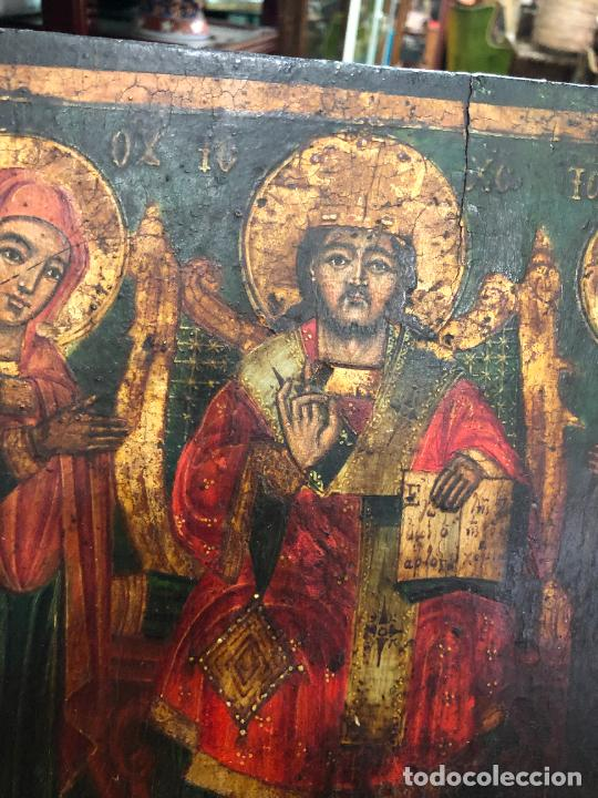 Arte: ESPECTACULAR OLEO SOBRE TABLA SIGLO XVIII - ESCENA RELIGIOSA - MEDIDA 36X26 CM - Foto 8 - 217554838