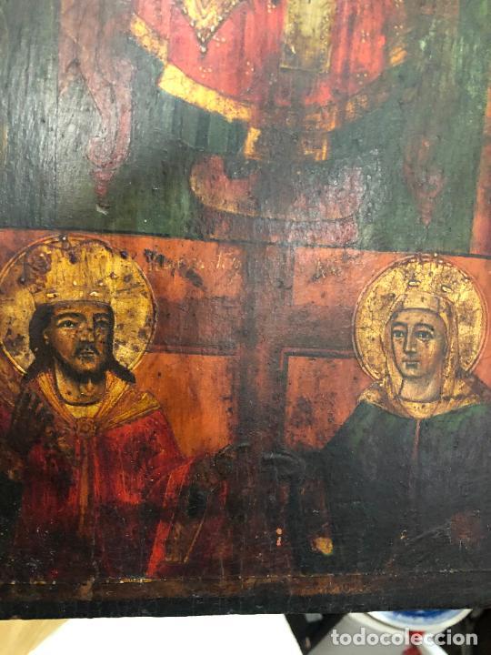 Arte: ESPECTACULAR OLEO SOBRE TABLA SIGLO XVIII - ESCENA RELIGIOSA - MEDIDA 36X26 CM - Foto 9 - 217554838