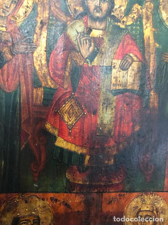 Arte: ESPECTACULAR OLEO SOBRE TABLA SIGLO XVIII - ESCENA RELIGIOSA - MEDIDA 36X26 CM - Foto 10 - 217554838