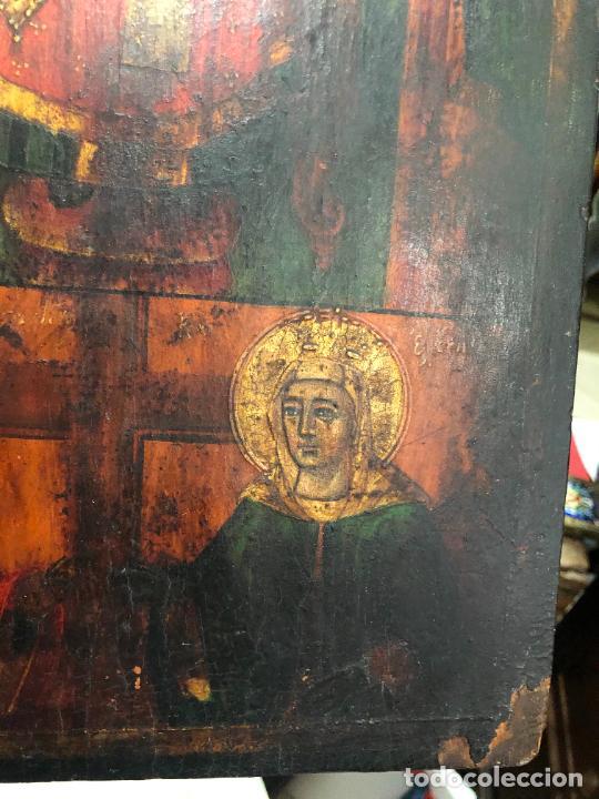 Arte: ESPECTACULAR OLEO SOBRE TABLA SIGLO XVIII - ESCENA RELIGIOSA - MEDIDA 36X26 CM - Foto 11 - 217554838