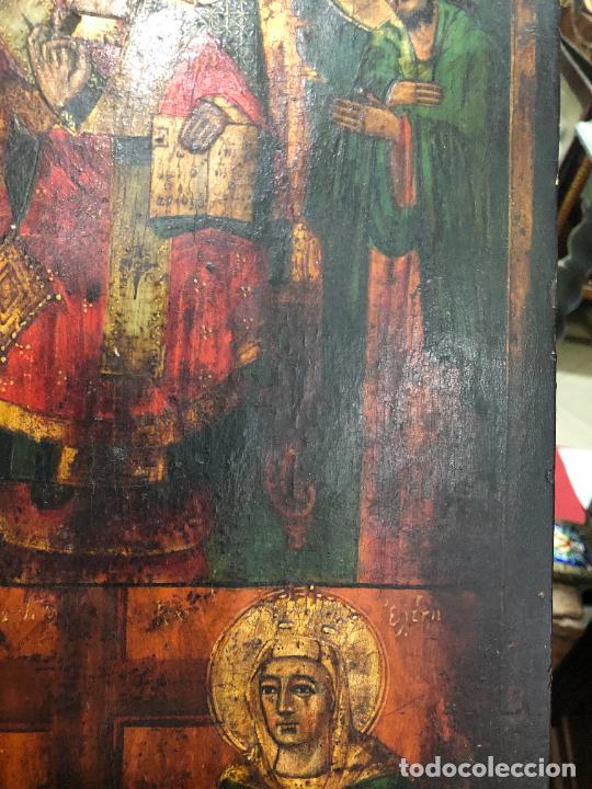 Arte: ESPECTACULAR OLEO SOBRE TABLA SIGLO XVIII - ESCENA RELIGIOSA - MEDIDA 36X26 CM - Foto 12 - 217554838