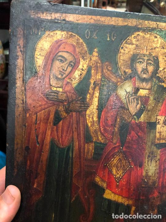 Arte: ESPECTACULAR OLEO SOBRE TABLA SIGLO XVIII - ESCENA RELIGIOSA - MEDIDA 36X26 CM - Foto 14 - 217554838
