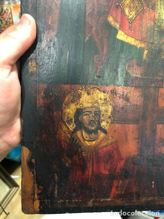 Arte: ESPECTACULAR OLEO SOBRE TABLA SIGLO XVIII - ESCENA RELIGIOSA - MEDIDA 36X26 CM - Foto 16 - 217554838