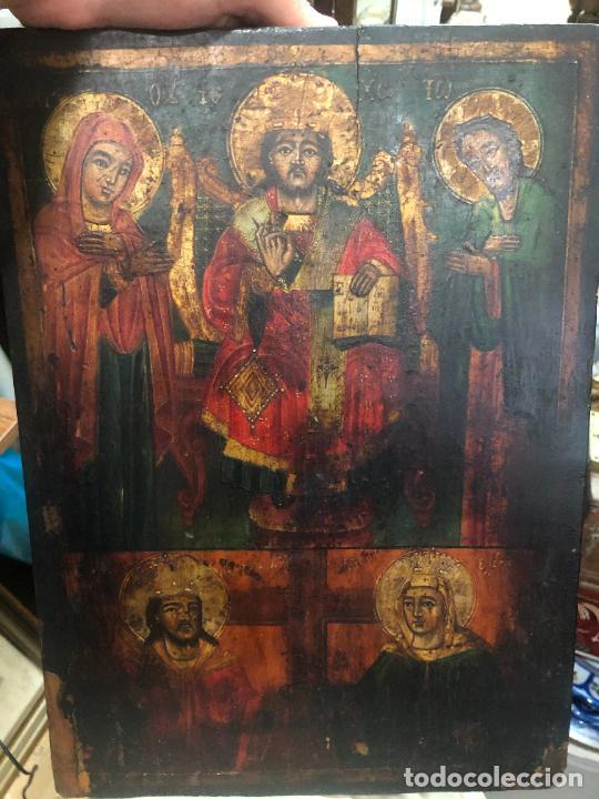 ESPECTACULAR OLEO SOBRE TABLA SIGLO XVIII - ESCENA RELIGIOSA - MEDIDA 36X26 CM (Arte - Arte Religioso - Pintura Religiosa - Oleo)