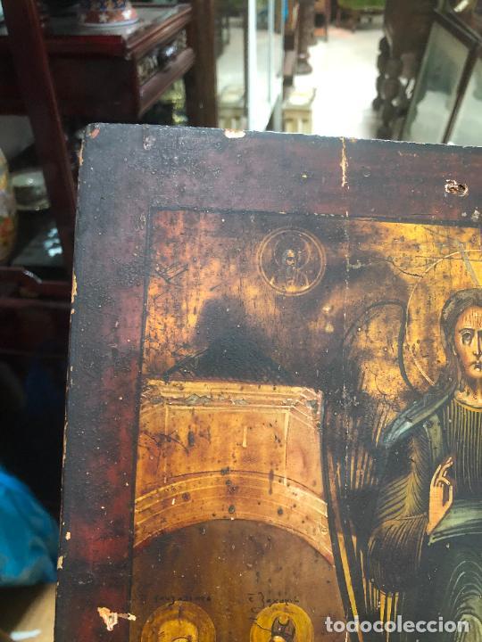 Arte: ESPECTACULAR OLEO SOBRE TABLA SIGLO XVIII - ESCENA RELIGIOSA - MEDIDA 37X30 CM - Foto 2 - 217555385