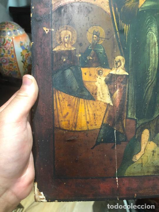 Arte: ESPECTACULAR OLEO SOBRE TABLA SIGLO XVIII - ESCENA RELIGIOSA - MEDIDA 37X30 CM - Foto 3 - 217555385