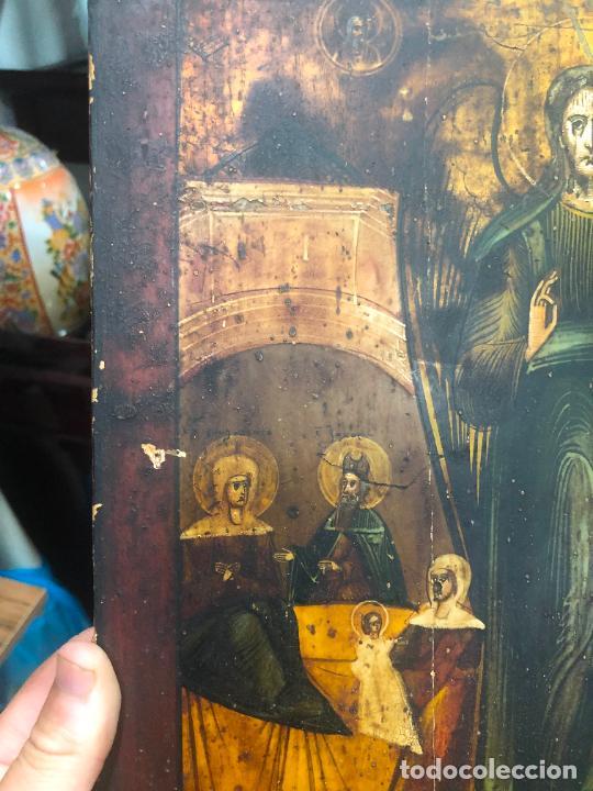 Arte: ESPECTACULAR OLEO SOBRE TABLA SIGLO XVIII - ESCENA RELIGIOSA - MEDIDA 37X30 CM - Foto 4 - 217555385
