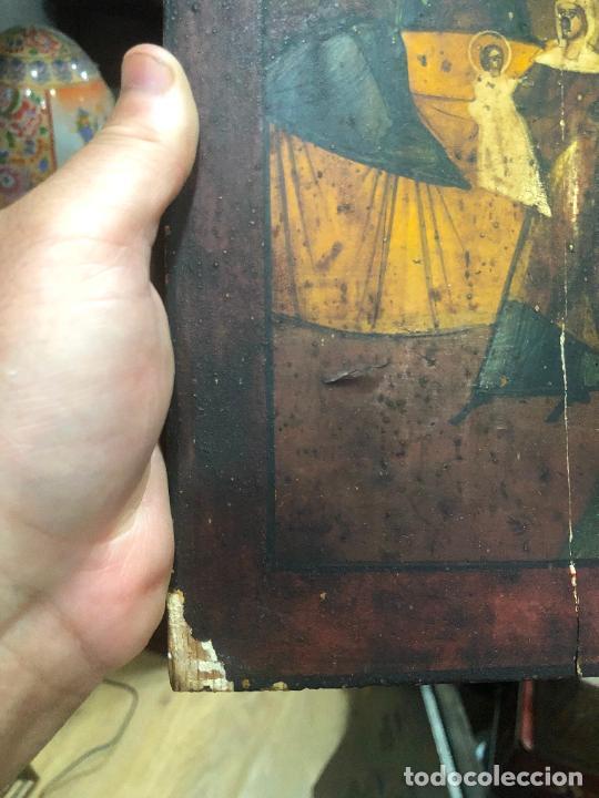 Arte: ESPECTACULAR OLEO SOBRE TABLA SIGLO XVIII - ESCENA RELIGIOSA - MEDIDA 37X30 CM - Foto 5 - 217555385