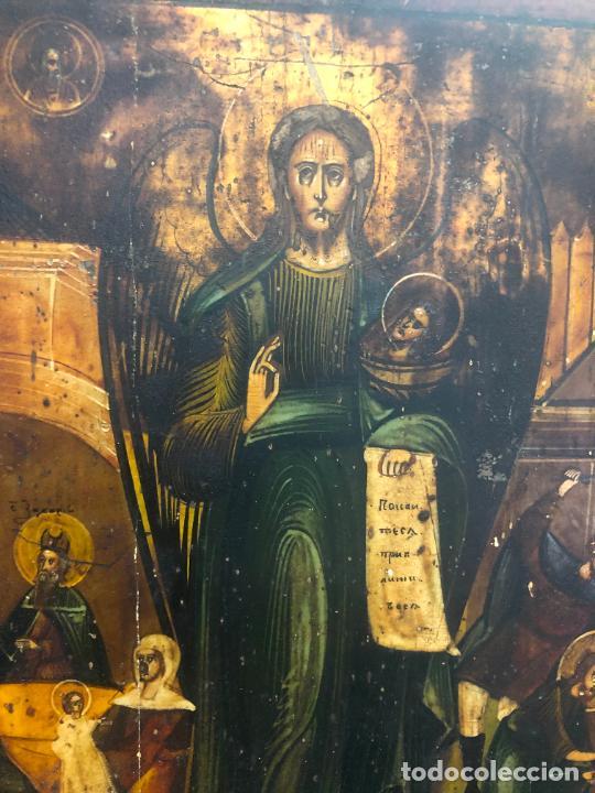 Arte: ESPECTACULAR OLEO SOBRE TABLA SIGLO XVIII - ESCENA RELIGIOSA - MEDIDA 37X30 CM - Foto 6 - 217555385