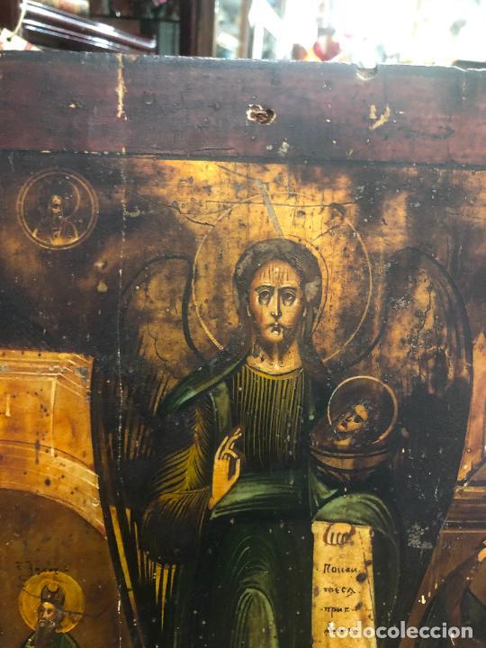 Arte: ESPECTACULAR OLEO SOBRE TABLA SIGLO XVIII - ESCENA RELIGIOSA - MEDIDA 37X30 CM - Foto 7 - 217555385