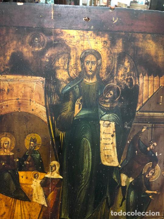 Arte: ESPECTACULAR OLEO SOBRE TABLA SIGLO XVIII - ESCENA RELIGIOSA - MEDIDA 37X30 CM - Foto 11 - 217555385