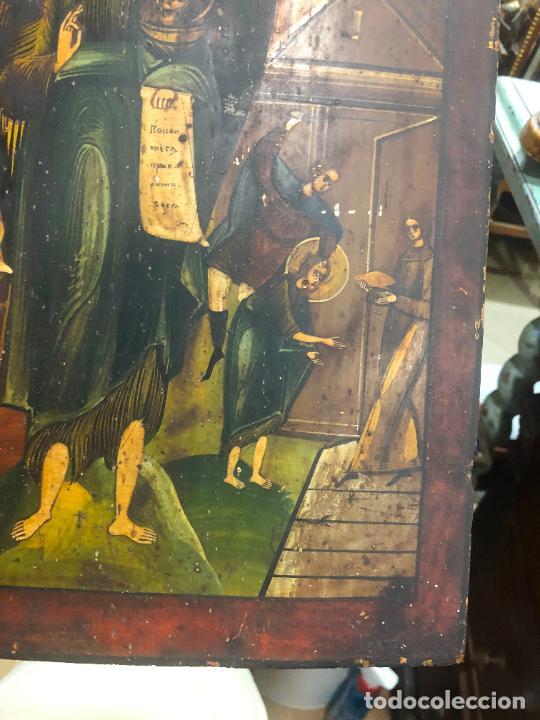 Arte: ESPECTACULAR OLEO SOBRE TABLA SIGLO XVIII - ESCENA RELIGIOSA - MEDIDA 37X30 CM - Foto 12 - 217555385