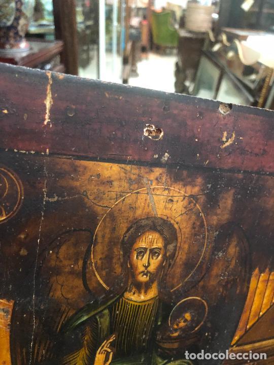 Arte: ESPECTACULAR OLEO SOBRE TABLA SIGLO XVIII - ESCENA RELIGIOSA - MEDIDA 37X30 CM - Foto 13 - 217555385