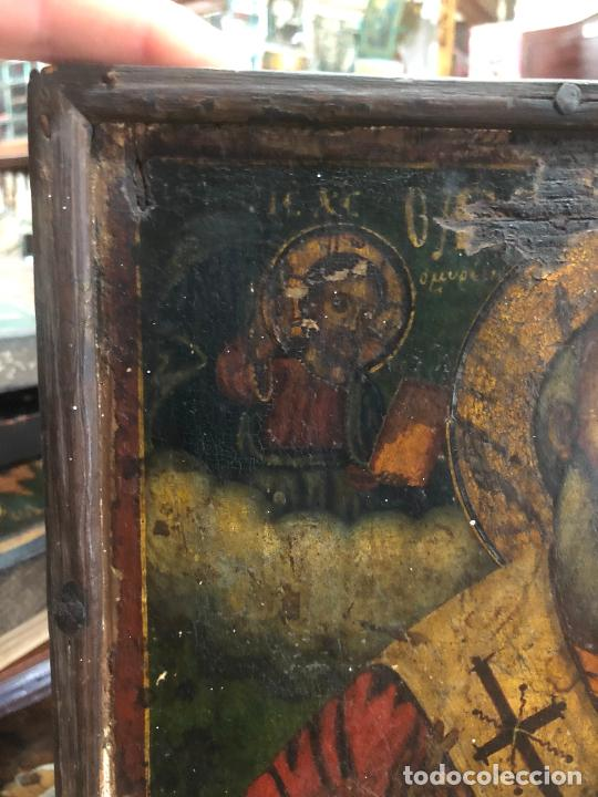 Arte: ESPECTACULAR OLEO SOBRE TABLA SIGLO XVIII - ESCENA RELIGIOSA - MEDIDA 32X25 CM - Foto 2 - 217556288