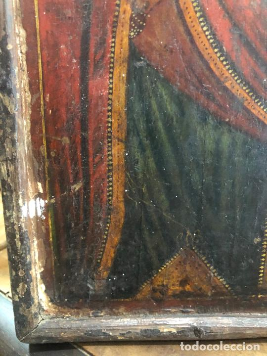 Arte: ESPECTACULAR OLEO SOBRE TABLA SIGLO XVIII - ESCENA RELIGIOSA - MEDIDA 32X25 CM - Foto 3 - 217556288