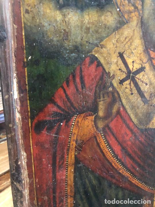 Arte: ESPECTACULAR OLEO SOBRE TABLA SIGLO XVIII - ESCENA RELIGIOSA - MEDIDA 32X25 CM - Foto 4 - 217556288