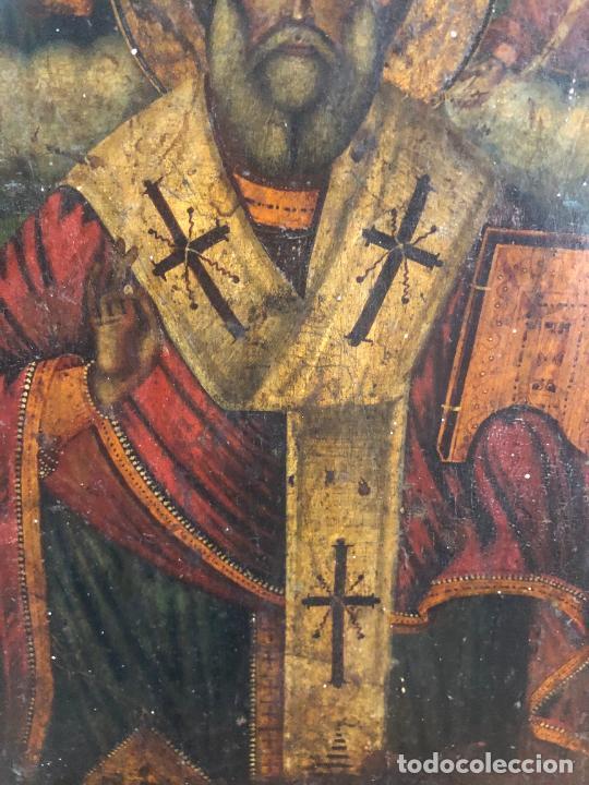 Arte: ESPECTACULAR OLEO SOBRE TABLA SIGLO XVIII - ESCENA RELIGIOSA - MEDIDA 32X25 CM - Foto 6 - 217556288