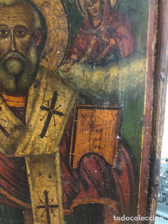 Arte: ESPECTACULAR OLEO SOBRE TABLA SIGLO XVIII - ESCENA RELIGIOSA - MEDIDA 32X25 CM - Foto 7 - 217556288