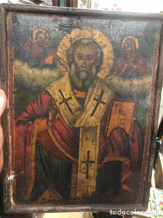 Arte: ESPECTACULAR OLEO SOBRE TABLA SIGLO XVIII - ESCENA RELIGIOSA - MEDIDA 32X25 CM - Foto 10 - 217556288
